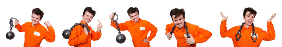 Молодой воспитанник при цепи изолированные на белизне Стоковые Фотографии RF