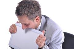 Молодой вскользь бизнесмен под стрессом Стоковое Фото