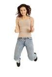 Молодой вскользь скакать женщины Стоковая Фотография