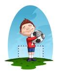Молодой голкипер Стоковые Изображения RF