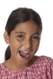 Молодой девочка-подросток делая потеху Стоковые Изображения RF
