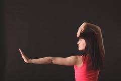 Молодой женский джаз танцев Стоковое Изображение