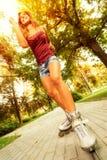 Молодой женский конькобежец Стоковое Фото
