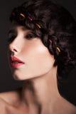 Молодой женский профиль Стоковые Фотографии RF