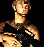Молодой западный солдат Стоковое Изображение RF