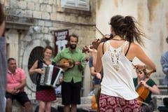 Молодой играть музыкантов Стоковое Изображение