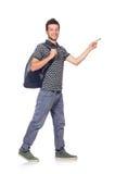 Молодой изолированный студент Стоковые Фотографии RF