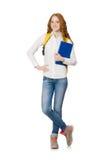 Молодой изолированный студент Стоковое Изображение RF