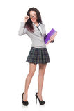 Молодой изолированный студент Стоковое Фото