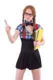 Молодой изолированный студент Стоковая Фотография
