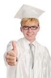 Молодой изолированный студент Стоковые Изображения