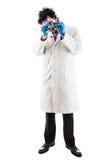 Молодой исследователь играя с молекулой tnt Стоковая Фотография