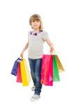 Молодой идти девушки покупок Стоковые Изображения RF