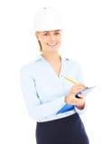 Молодой контролер с документами Стоковые Фото