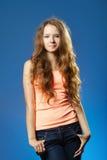 Молодой красивейший представлять девушки Стоковые Фотографии RF