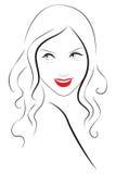 Молодой красивый портрет женщины Стоковые Изображения