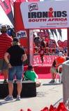 Спортсмен Ironkids на финишной черте Стоковое Изображение