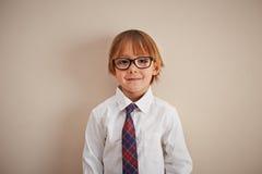 Молодой мальчик корпоративного бизнеса Стоковое Фото