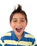 Молодой мальчик кричащий Стоковое фото RF