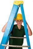 Молодой мальчик - будущий рабочий-строитель Стоковые Изображения