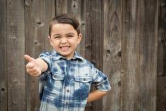 Молодой мальчик смешанной гонки делая жесты рукой Стоковые Фотографии RF