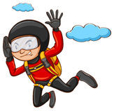 Молодой мальчик skydiving Стоковые Изображения RF