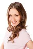 Молодой милый портрет головы женщины Стоковое Фото