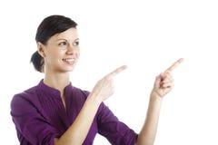 Молодая женщина рекламодателя стоковое изображение rf