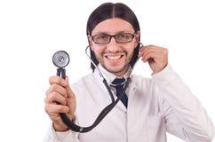 Молодой мужской изолированный доктор Стоковые Изображения RF
