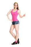 Молодой мышечный представлять женщины Стоковые Изображения RF