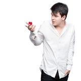 Молодой нежный человек брюнет Стоковое Фото