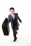 Молодой парень одеванный как персона дела стоковые изображения rf