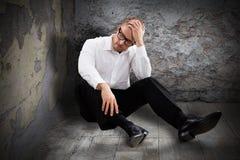 Молодой потревоженный человек Стоковое Фото