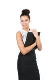 Молодой работник офиса держит файл Стоковая Фотография RF