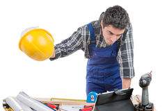 Молодой работник сердит Стоковое Изображение RF