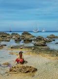 Молодой рыболов Стоковые Изображения RF