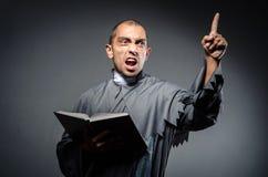 Молодой священник стоковые фотографии rf