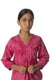 Молодой сердитый девочка-подросток Стоковое Фото