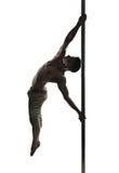 Молодой сильный человек танца поляка Стоковые Фото