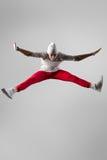Молодой скакать breakdancer стоковое фото