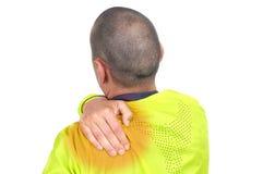 Молодой спортсмен с backache стоковое фото rf