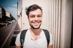 Молодой стильный человек стоковая фотография rf