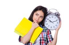 Молодой студент изолированный на белизне Стоковое Изображение