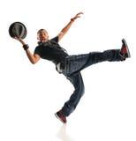 Молодой тазобедренный танцор хмеля с шляпой Стоковые Изображения RF
