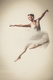 Молодой танцор балерины в балетной пачке Стоковая Фотография