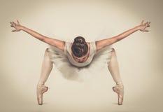 Молодой танцор балерины в балетной пачке Стоковое фото RF