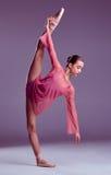 Молодой танцор балерины показывая ее методы Стоковые Фотографии RF