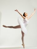 Молодой танцор балерины Стоковая Фотография