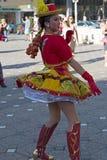 Молодой танцор от Чили в традиционном костюме 1 стоковое фото