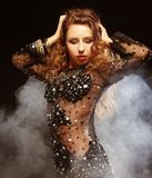 Молодой танцор стриптиза Стоковое фото RF
